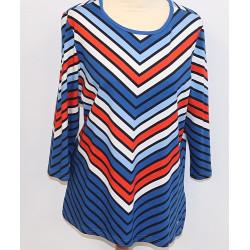 Shirt gestreept blauw