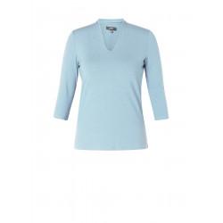Shirt v-hals licht blauw