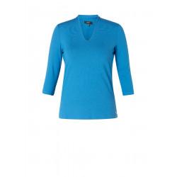 Shirt v-hals helder blauw