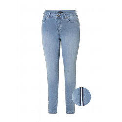 Slim fit jeans met bies.